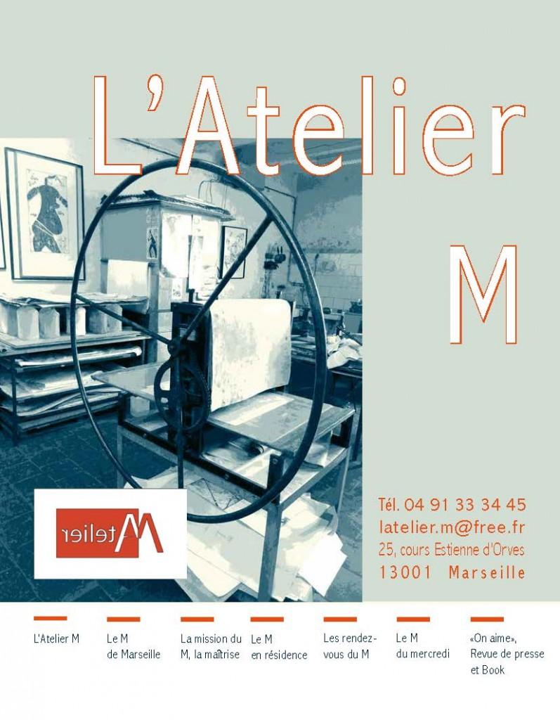 Dossier de présentation de L'Atelier M